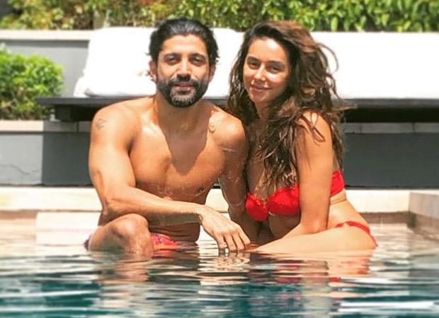 Farhan Akhtar and Shibani Dandekar soar the temperatures as they pose in the pool!