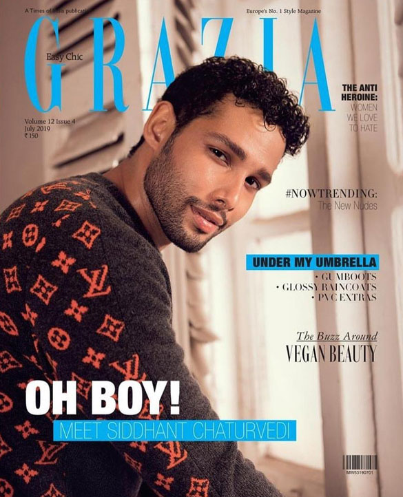 Siddhant Chaturvedi on the cover of Grazia, July 2019