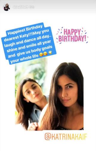Happy Birthday Katrina Kaif: Alia Bhatt wishes her 'dearest Katy' with a lovely photo