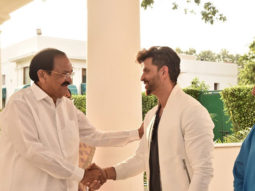 Hrithik Roshan, Sajid Nadiadwala and Super 30 team meet Vice President of India Venkaiah Naidu