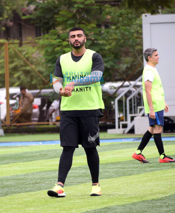 Photos Arjun Kapoor and Mahendra Singh Dhoni snapped during a football match practice (3)