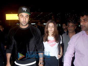 Photos: Ranbir Kapoor, Alia Bhatt, Nora Fatehi and Sophie Choudry snapped at the airport last night