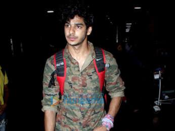 Photos: Sanya Malhotra and Ishaan Khatter snapped at the airport