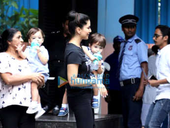 Photos: Sunny Leone snapped with her kids