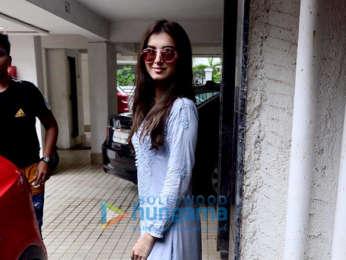 Photos: Tara Sutaria and Ahan Shetty snapped at Milan Luthria's office