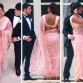 Priyanka Chopra Jonas brings her desi element to Paris in a Sabyasachi saree at Joe Jonas and Sophie Turner's wedding
