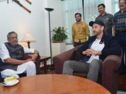 Super 30 team Hrithik Roshan, Anand Kumar, Vikas Bahl meet Deputy Chief Minister Sushil Kumar Modi in Patna
