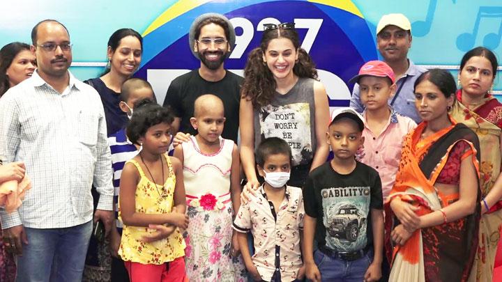 WATCH Taapsee Pannu met children battling Cancer at Radio Station