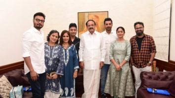 Batla House: John Abraham, Mrunal Thakur, Nikkhil Advani meet Vice President Venkaiah Naidu in New Delhi
