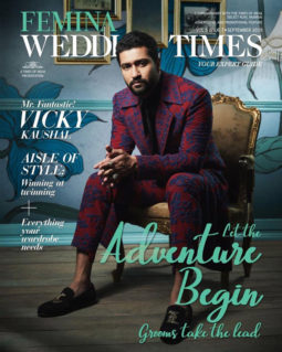 Vicky Kaushal on the cover of Femina Wedding Times, Sept 2019