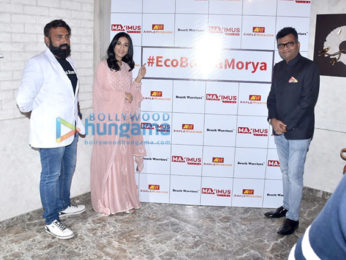 Photos: Amrita Rao snapped at the launch of #EcoBappaMorya initiative