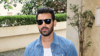 Photos: John Abraham, Mrunal Thakur and Nikhil Advani snapped promoting their film Batla House at Radio City office in Bandra
