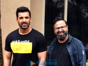 Photos: John Abraham & director Nikhil Advani snapped during Batla House promotions
