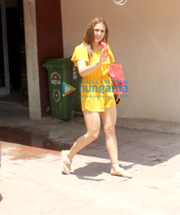 Photos: Sara Ali Khan spotted after her Pilates session