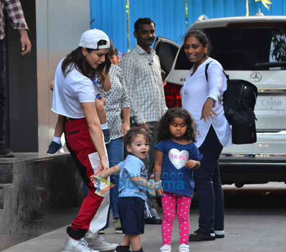 Photos Sunny Leone snapped with her kids at a playschool (3)