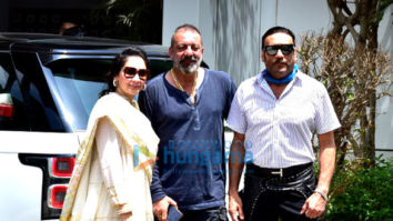 Photos: Team of Prasthanam snapped leaving to promote the film in Delhi