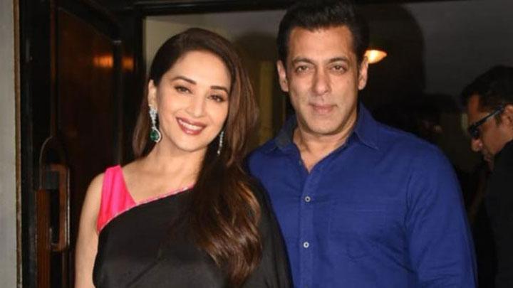 Salman Khan & Madhuri Dixit at Hum Aapke Hain Kaun screening to celebrate 25th anniversary