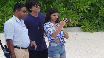 Shah Rukh Khan spends some quality time with daughter Suhana Khan and son AbRam