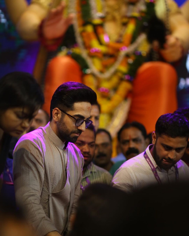 Ayushmann Khurrana, Nushrat Bharucha, Ekta Kapoor visit Lalbaugcha Raja to seek blessings ahead of Dream Girl release