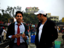 On the sets of the movie Dream Girl