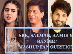 Movie With Shah Rukh, Salman & Shahid Sara Vidya Katrina Ananya Fan Questions with Celebs