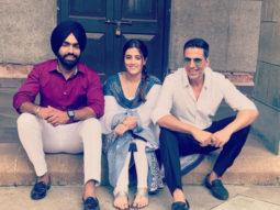 PHOTOS: Akshay Kumar, Ammy Virk and Nupur Sanon shoot for a music video 'Filhaal'