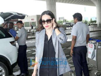 Photos: Kajol, Karisma Kapoor and Rajkumar Hirani snapped at the airport