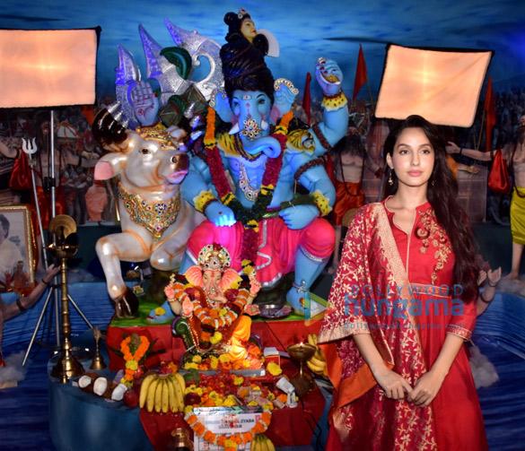 Photos Nora Fatehi snapped at T-Series Ganpati celebration