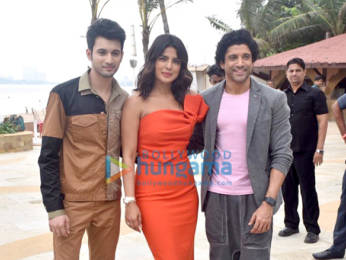 Photos: Priyanka Chopra Jonas and Farhan Akhtar snapped during The Sky Is Pink promotions at Sun and Sand, Juhu