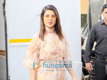 Photos: Priyanka Chopra Jonas snapped at Mehboob studio while promoting her movie The Sky Is Pink