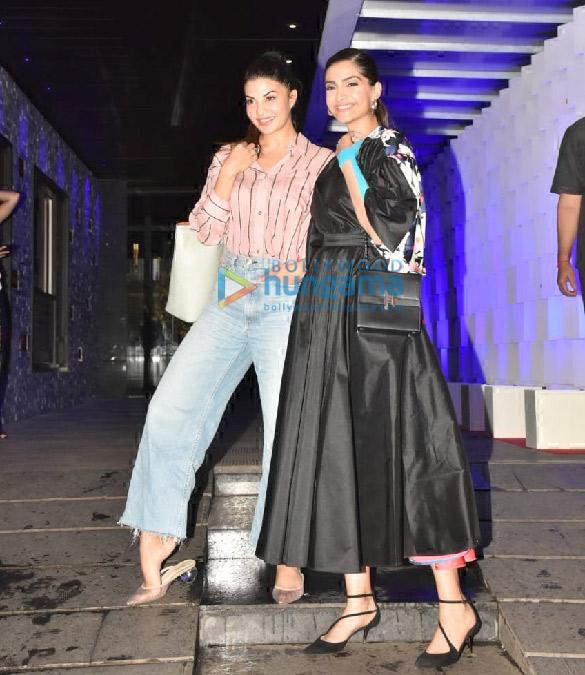 Photos Sonam Kapoor Ahuja and Jacqueline Fernandez spotted at Hakkasan in Bandra (1)