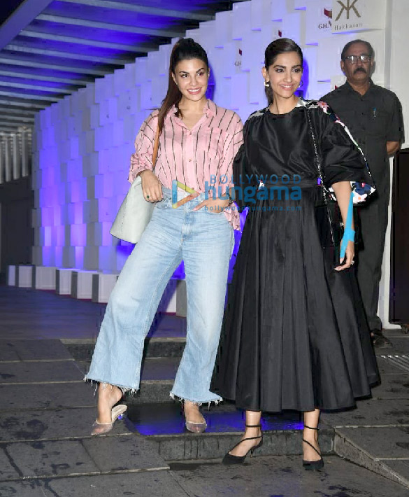 Photos Sonam Kapoor Ahuja and Jacqueline Fernandez spotted at Hakkasan in Bandra (6)