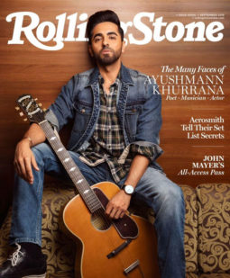 Ayushmann Khurrana on the cover of Rolling Stone, Sept 2019