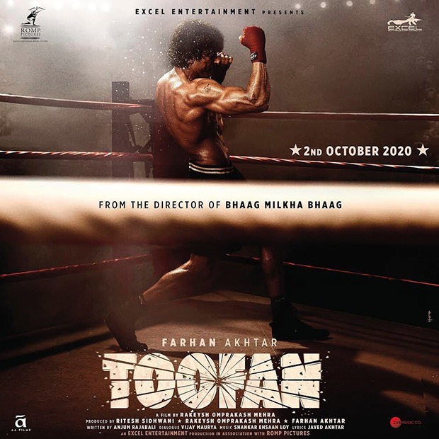 TOOFAN FIRST LOOK Farhan Akhtar transforms into a boxer; film to release on October 2, 2020