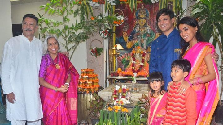 Vivek Oberoi & family welcomes Lord Ganesh at their Residence Ganesh Chaturthi
