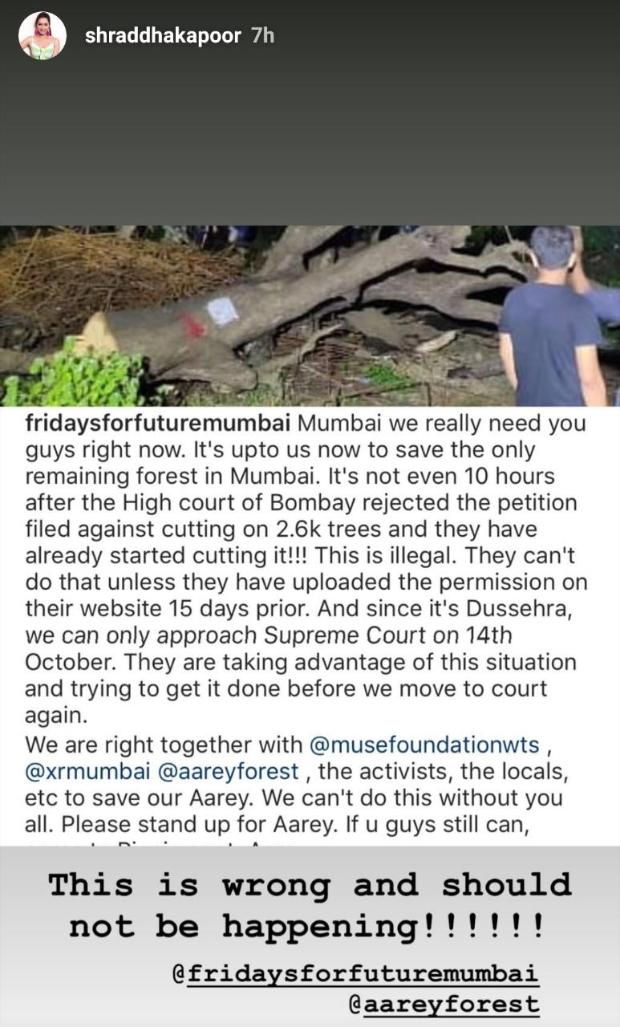 Alia Bhatt, Varun Dhawan, Farhan Akhtar, Shraddha Kapoor, Karan Johar speak up after tree cutting begins in Aarey Forest