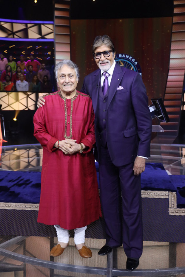 Amitabh Bachchan receives special surprise from Ustad Amjad Ali Khan on his 77th birthday on the sets of Kaun Banega Crorepati