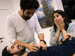 Dostana 2: Kartik Aaryan, Janhvi Kapoor and Lakshya goof around during the prep time