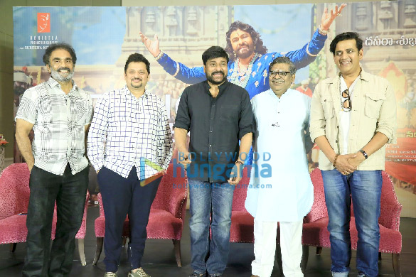 Photos Chiranjeevi and Ravi Kishan grace the success meet of 'Syeraa Narasimha Reddy' (2)