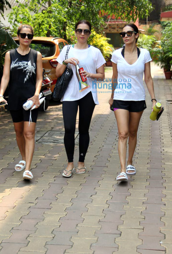 Photos: Malaika Arora, Seema Khan, Amrita Arora snapped post yoga session