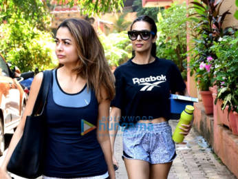Photos: Malaika Arora and Amrita Arora spotted after yoga class in Bandra
