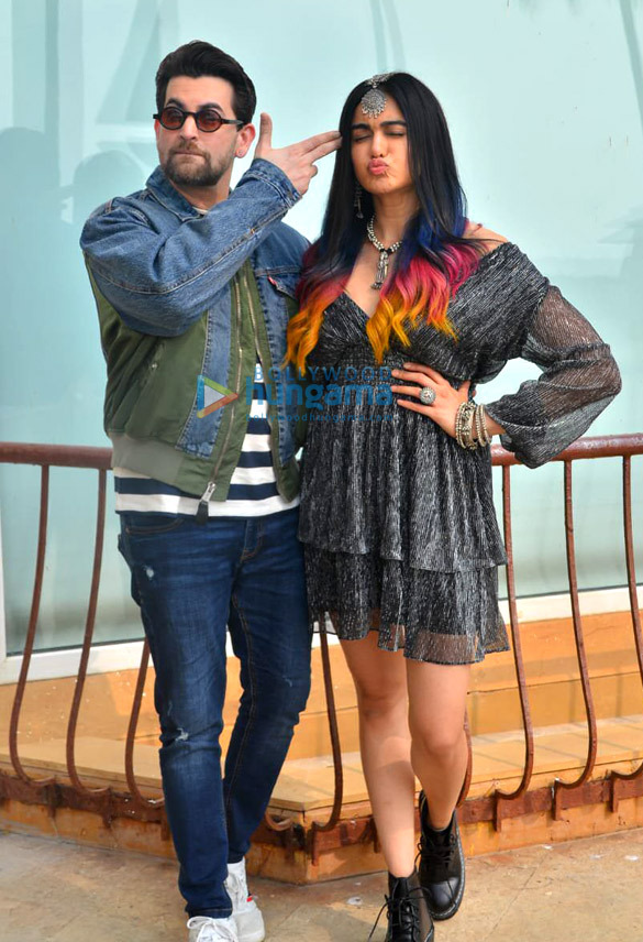 Photos Neil Nitin Mukesh, Adah Sharma and Naman Nitin Mukesh snapped promoting their film Bypass Road (3)