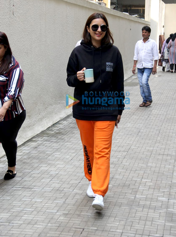 Photos: Parineeti Chopra spotted at the Dharma office in Bandra
