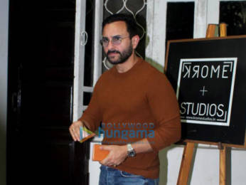 Photos: Saif Ali Khan spotted at Krome studio in Bandra