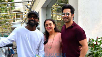 Photos: Varun Dhawan and Ananya Panday snapped at a dubbing studio in Juhu