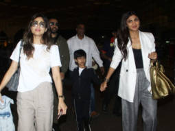 Shilpa Shetty spotted with family at airport, Mumbai