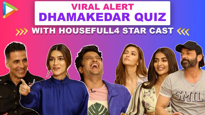 TRY NOT TO LAUGH Akshay, Riteish & Housefull 4 co-stars' HILARIOUS FIGHT Quiz Kriti Bobby Pooja