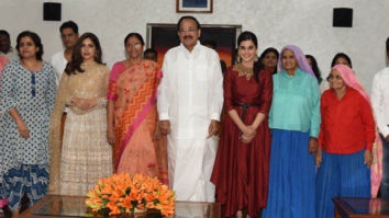 The first screening of Tapsee Pannu and Bhumi Pednekar starrer Saand Ki Aankh was organized for the Vice President M. Venkaiah Naidu and his family