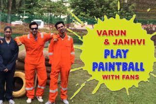 Varun Dhawan Vs Janhvi Kapoor – The Amazing Paintball match with Fans #FANKINDXVARUN-01