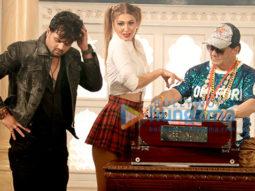 on the sets of the movie Vo Meri Student Hai